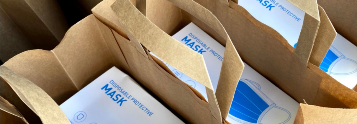 MeOut helps - mask donation to support schools